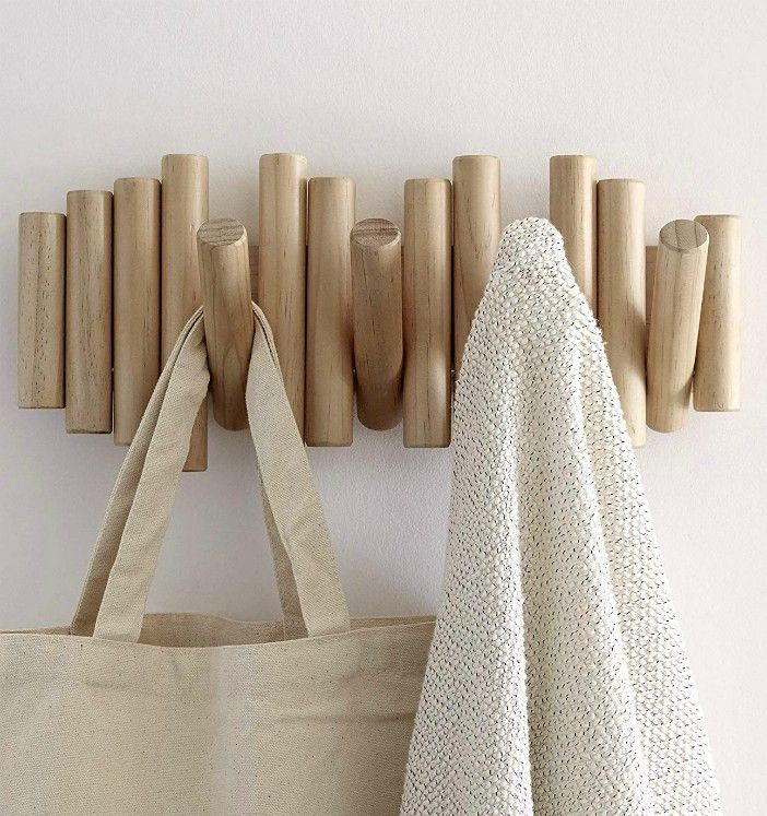 umbra picket - 16 stylish coat hooks that double as wall décor