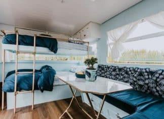Blue caravan