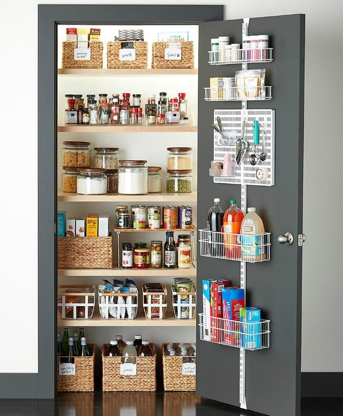 Elfa White Wire Kitchen Door Wall Rack - Turn your doors into storage space with these 20 clever ideas