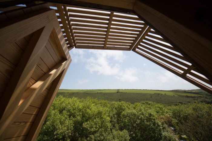 Kudhva Wilderness Cabins 6 - Secluded wilderness cabins offer a fantastic view of the Cornish landscape