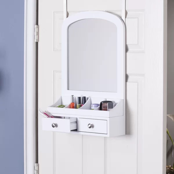MoriahOvertheDoorJewelryArmoirewithMirror - Turn your doors into storage space with these 20 clever ideas
