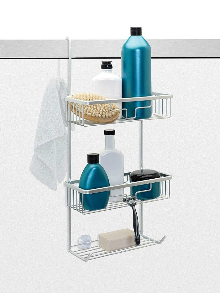 NeverRust Aluminum Over The Door Shower Caddy Satin Chrome - Turn your doors into storage space with these 20 clever ideas