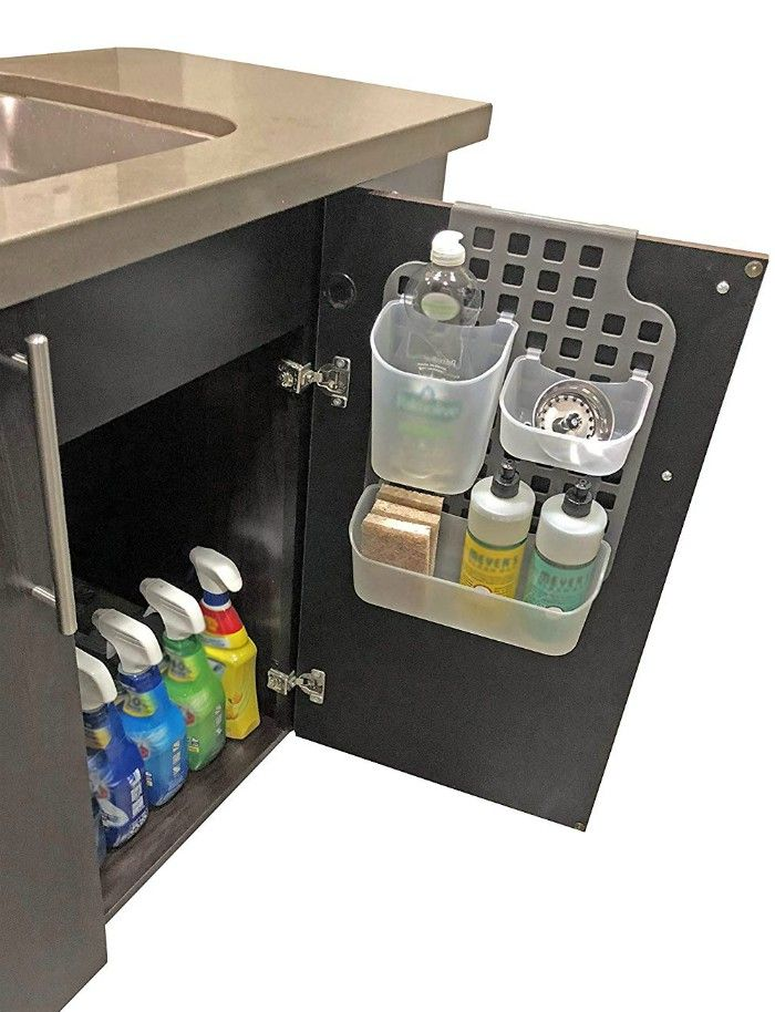 Over The Door Mount Kitchen Bathroom Cabinet Vanity Storage Organizer Basket Cabinet Vanity Organizer - Turn your doors into storage space with these 20 clever ideas