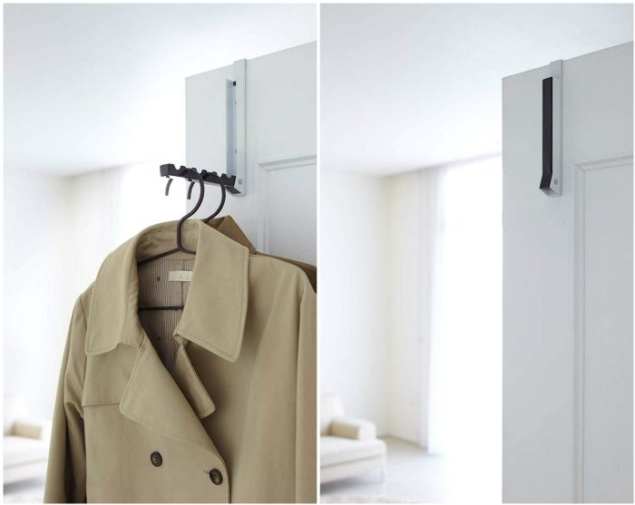coat rack - Turn your doors into storage space with these 20 clever ideas