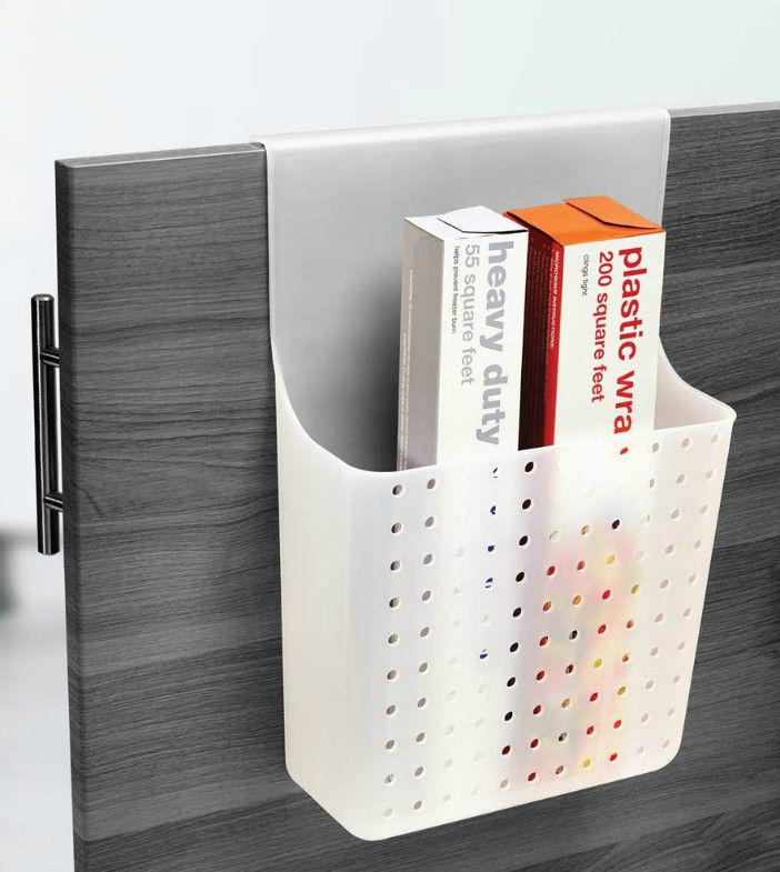 wrap organizer over door - Turn your doors into storage space with these 20 clever ideas