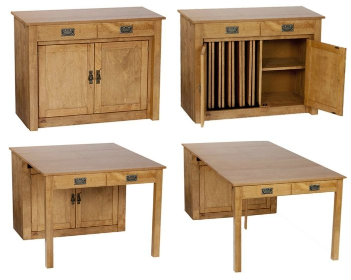 dining table in cabinet - These 12 dining tables are excellent solutions for small spaces