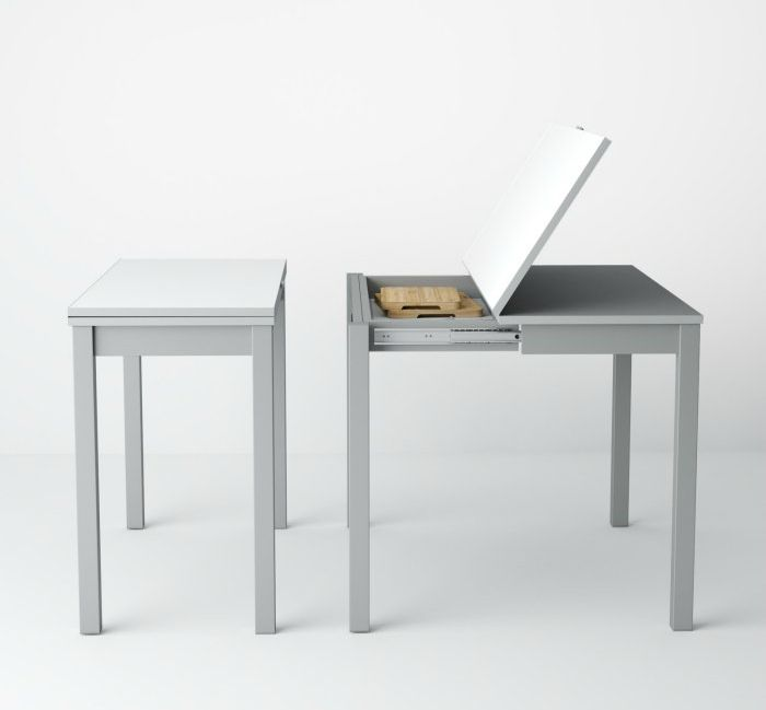 grey dining table - These 12 dining tables are excellent solutions for small spaces