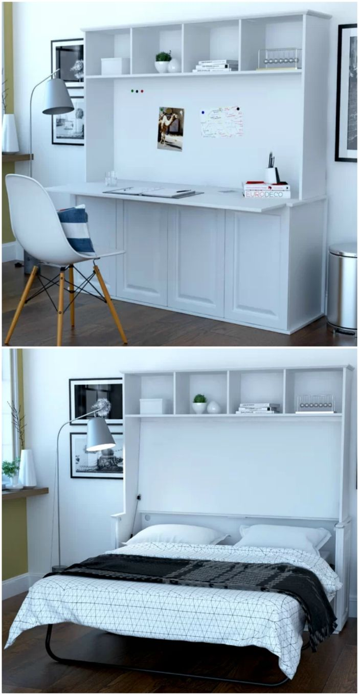 Picture of: 10 Murphy Beds That Convert Any Room To A Bedroom In Seconds Living In A Shoebox