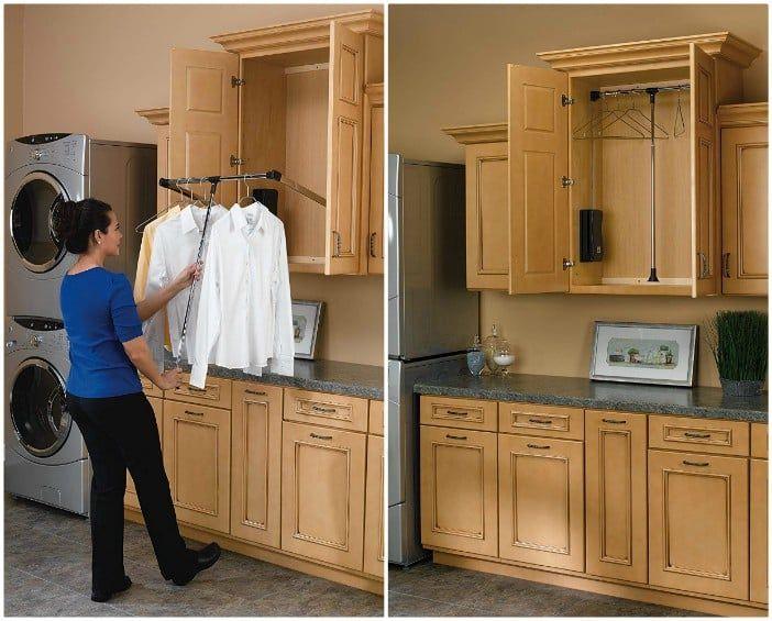 Adjustable Pull Down Closet Rod 2 - 20 brilliant ideas for organizing your closet