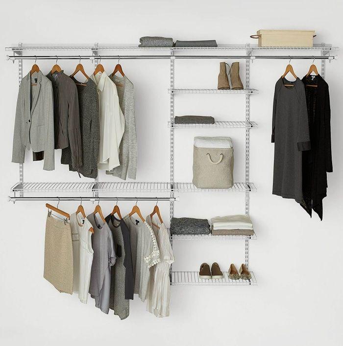 Rubbermaid Configurations Custom Closet Deluxe Kit White 4 8 Foot - 20 brilliant ideas for organizing your closet