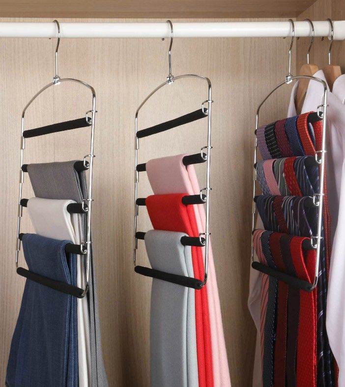 Storage Organizer for Pants - 20 brilliant ideas for organizing your closet