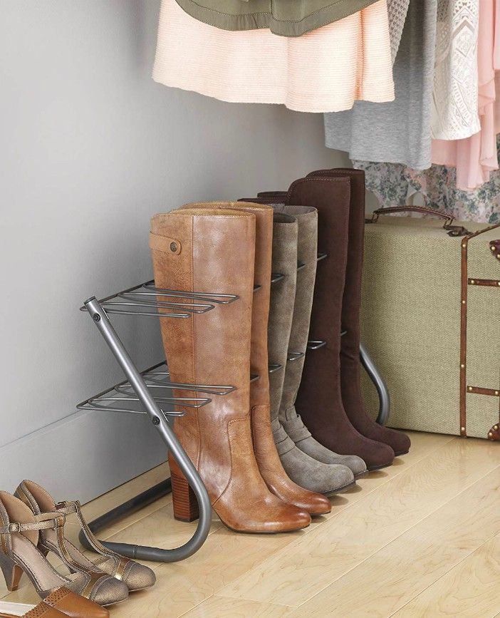 Whitmor 4 Pair Boot Stand Gunmetal - 20 brilliant ideas for organizing your closet