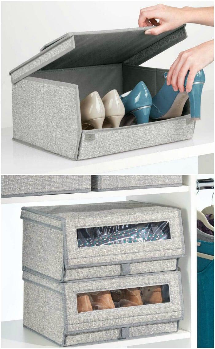 shoe storage - 20 brilliant ideas for organizing your closet