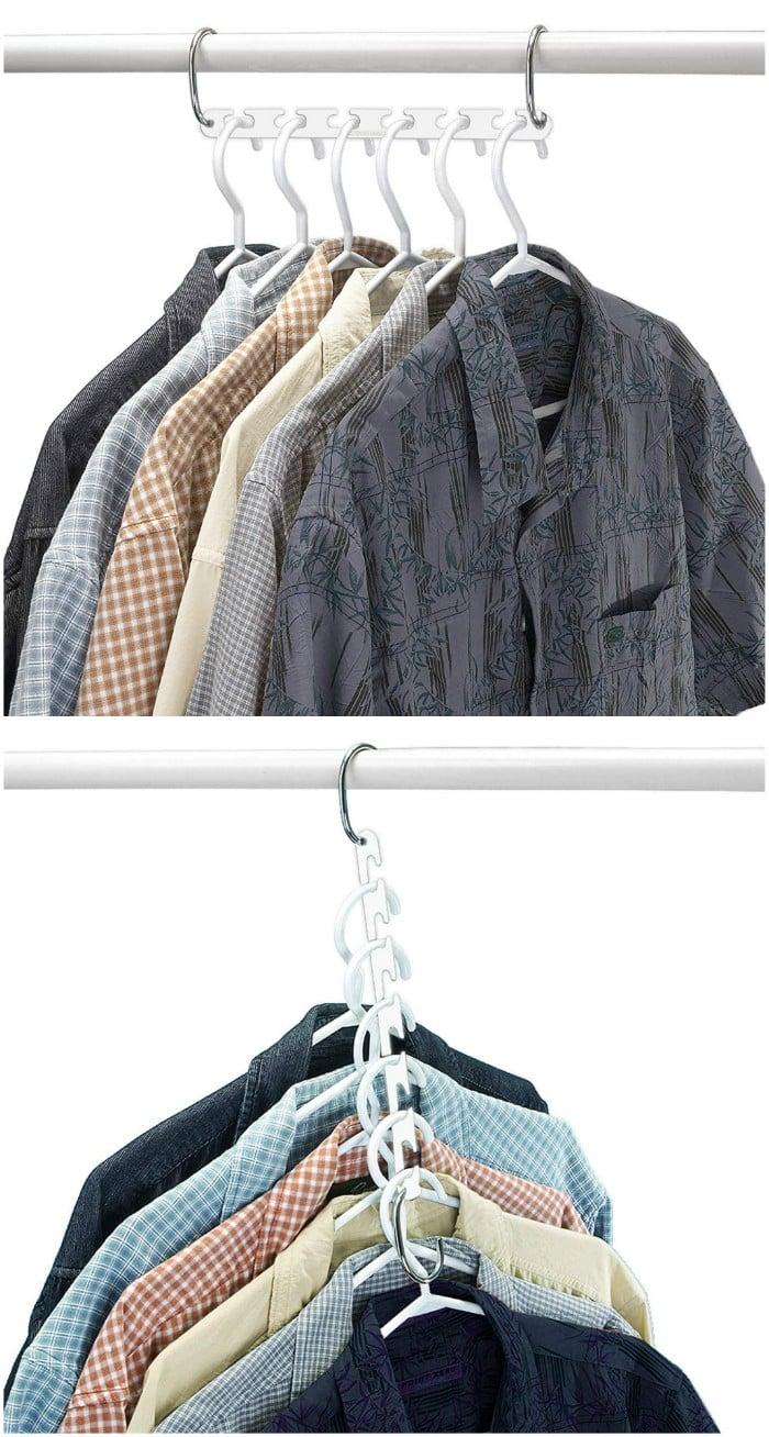 space saving - 20 brilliant ideas for organizing your closet