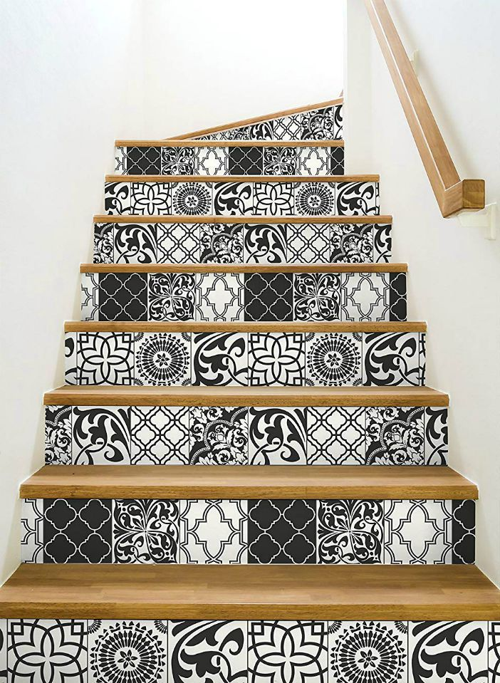 NextWall Graphic Tile Peel and Stick Wallpaper 1 - 16 creative ways to use peel and stick wallpaper