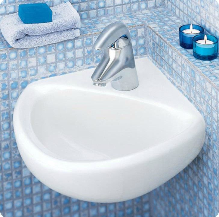 corner sink - Ten stylish and compact sink solutions for small bathrooms