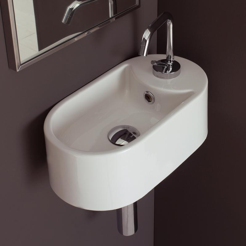 oval sink - Ten stylish and compact sink solutions for small bathrooms