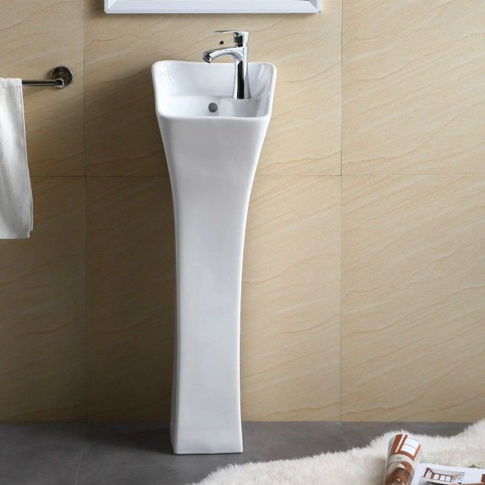 pedestal sink - Ten stylish and compact sink solutions for small bathrooms