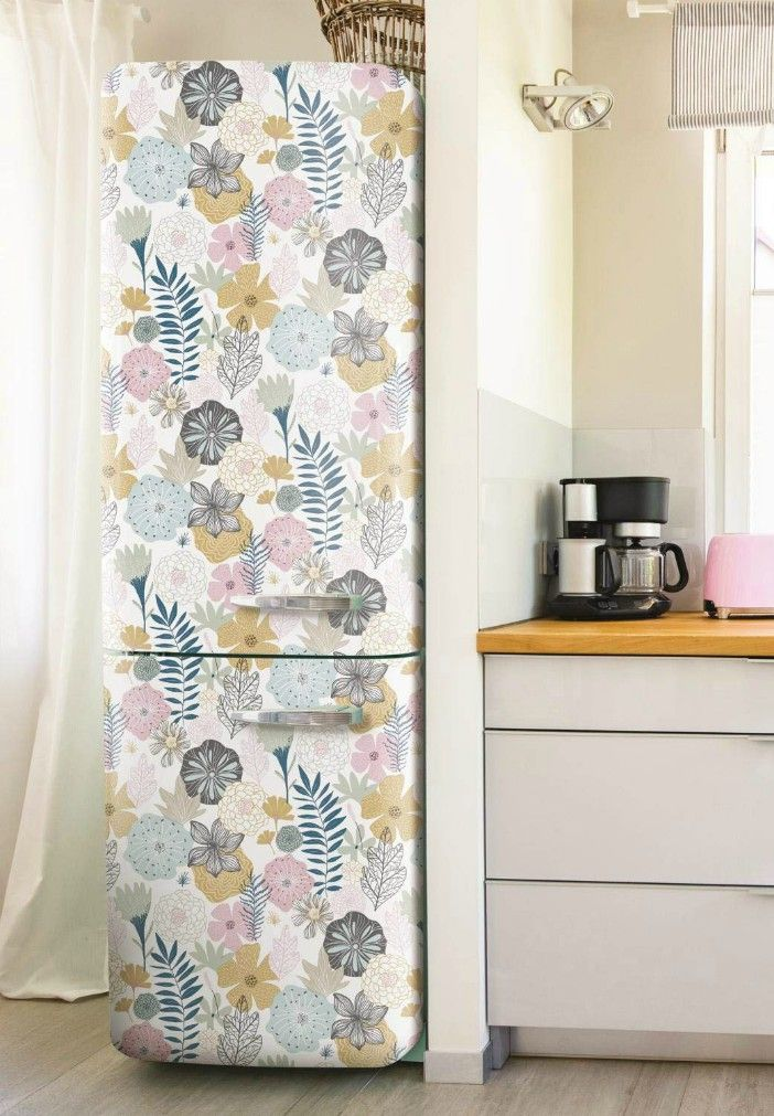 perennial blooms - 16 creative ways to use peel and stick wallpaper