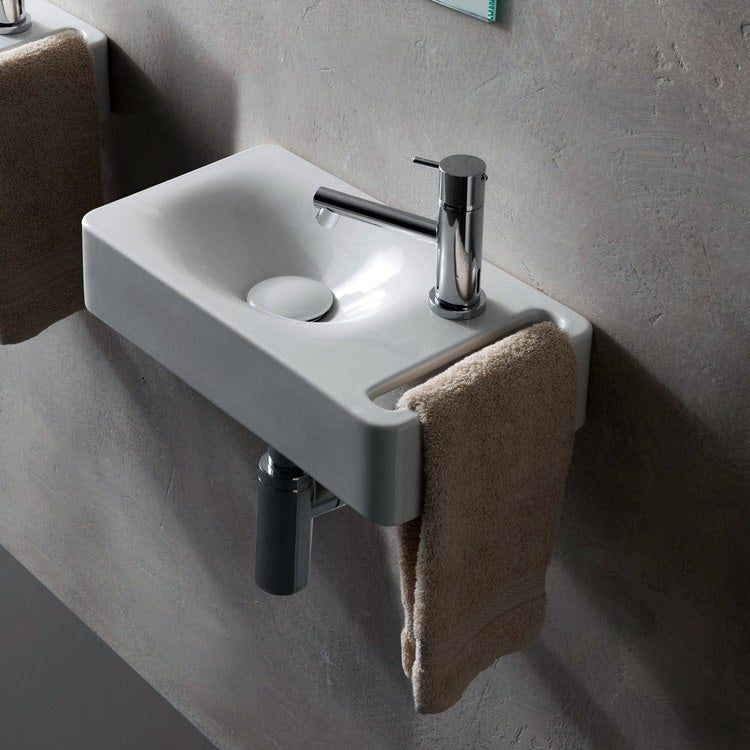 sink with towel holder - Ten stylish and compact sink solutions for small bathrooms
