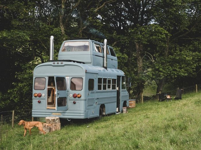 a converted bus with a vw camper bedroom on the roof in a remote corner of the lake district 1024 wide - Glamp out in a converted bus with a VW camper bedroom on the roof