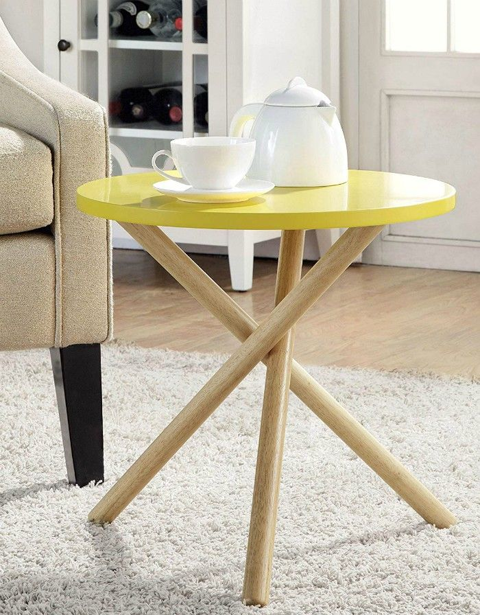ACME Lanica Gray and Natural End Table - 20 gorgeous side and accent table ideas for your small space
