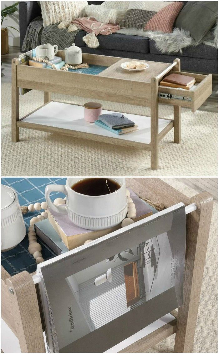 Anda Norr Coffee Table Sauder - 18 stunning coffee tables with built-in storage