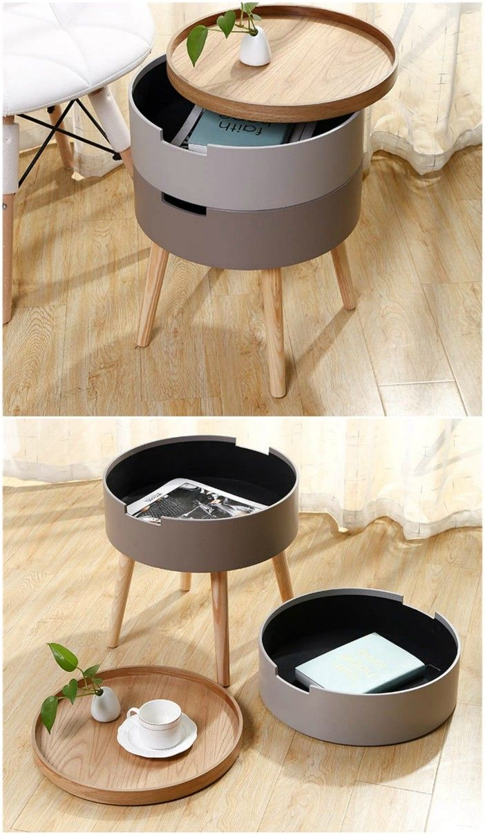 Detachable Tray Style Tabletop Nordic Style Accent Furniture for Living 2 - 18 stunning coffee tables with built-in storage