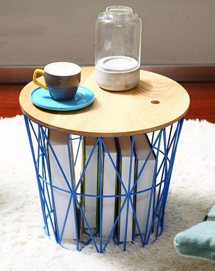 Home Selected Furniture Nordic Fashion Metal Lines Side Table Storage - 20 gorgeous side and accent table ideas for your small space