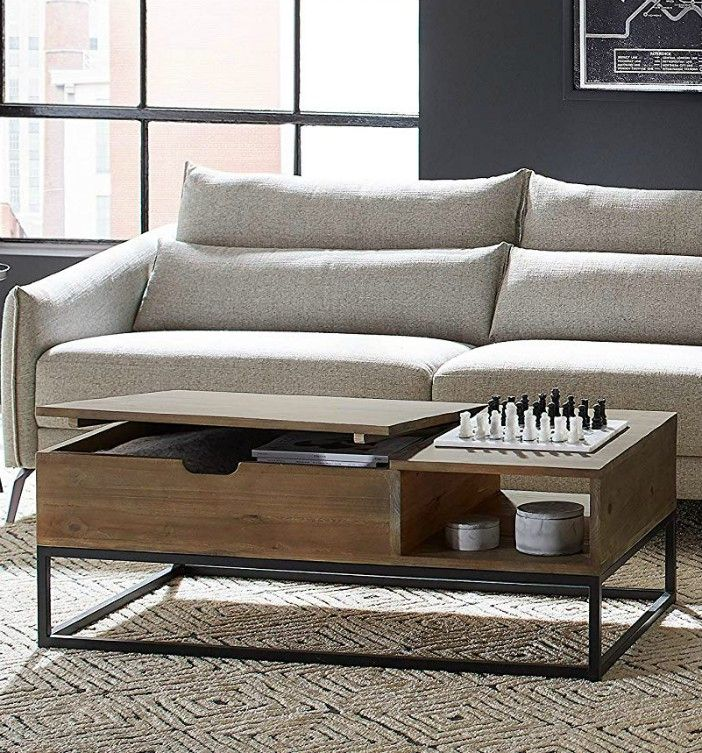 Rivet Modern Reclaimed Fir Wood Storage Coffee Table - 18 stunning coffee tables with built-in storage