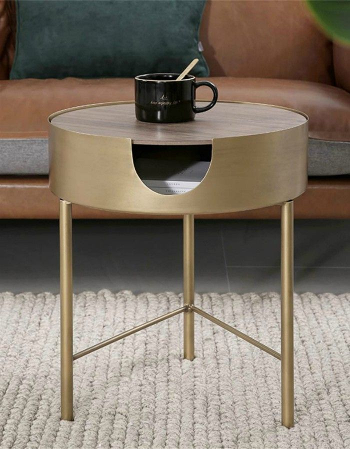 Round Coffee Table with Storage Function Tripod Support Metal Frame Stable and Durabl - 18 stunning coffee tables with built-in storage