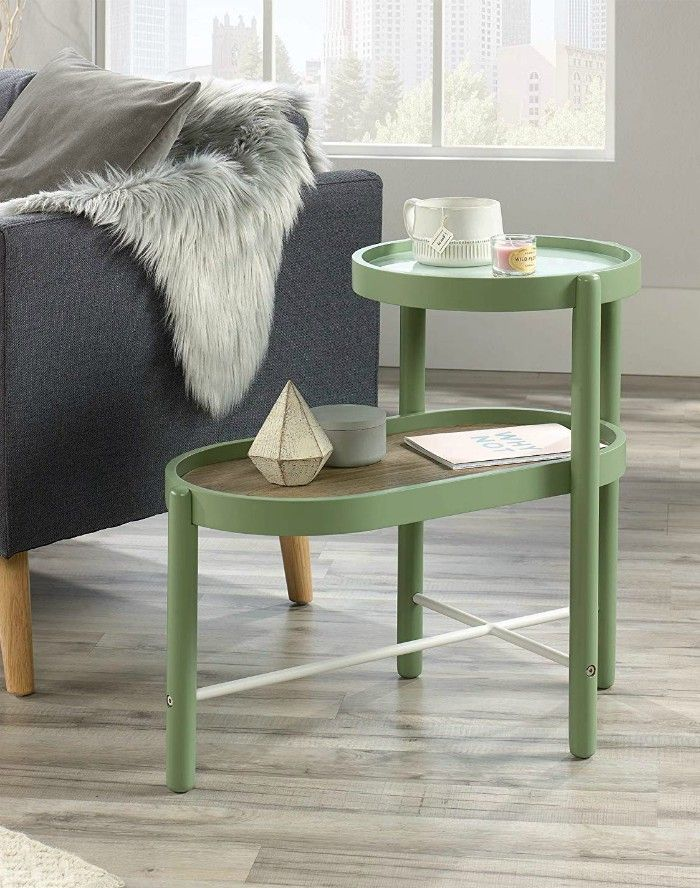 Sauder 422073 Anda Norr Side Table Sage Green Finish - 20 gorgeous side and accent table ideas for your small space
