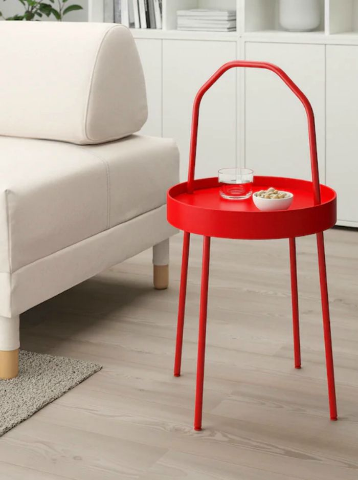 burvik side table red - 20 gorgeous side and accent table ideas for your small space