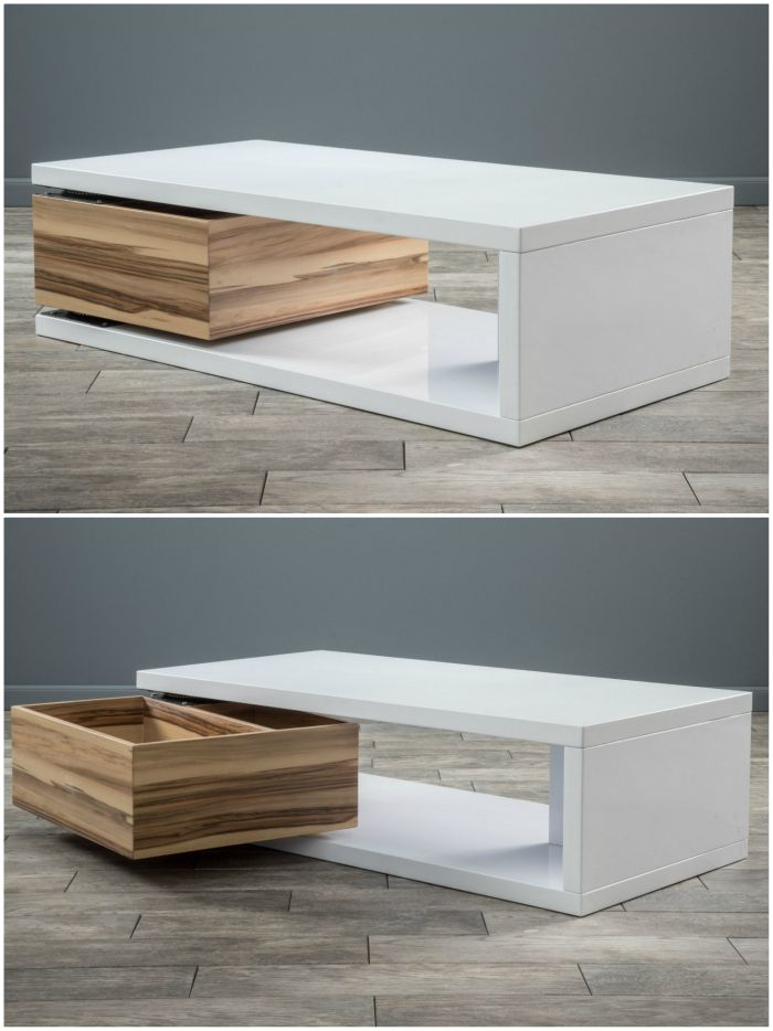 delwood coffee table - 18 stunning coffee tables with built-in storage