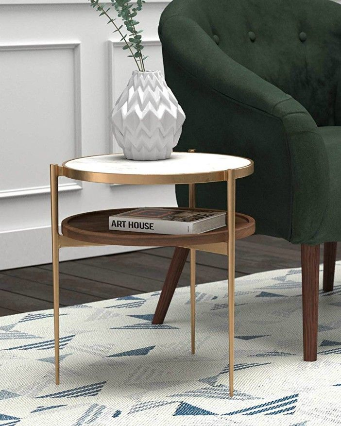 rivet side table - 20 gorgeous side and accent table ideas for your small space