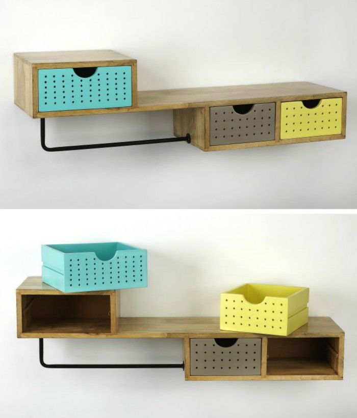 Butler Specialty Motley Modern Storage Wall Shelf - 20 floating shelves ideas that are sure to freshen up your walls