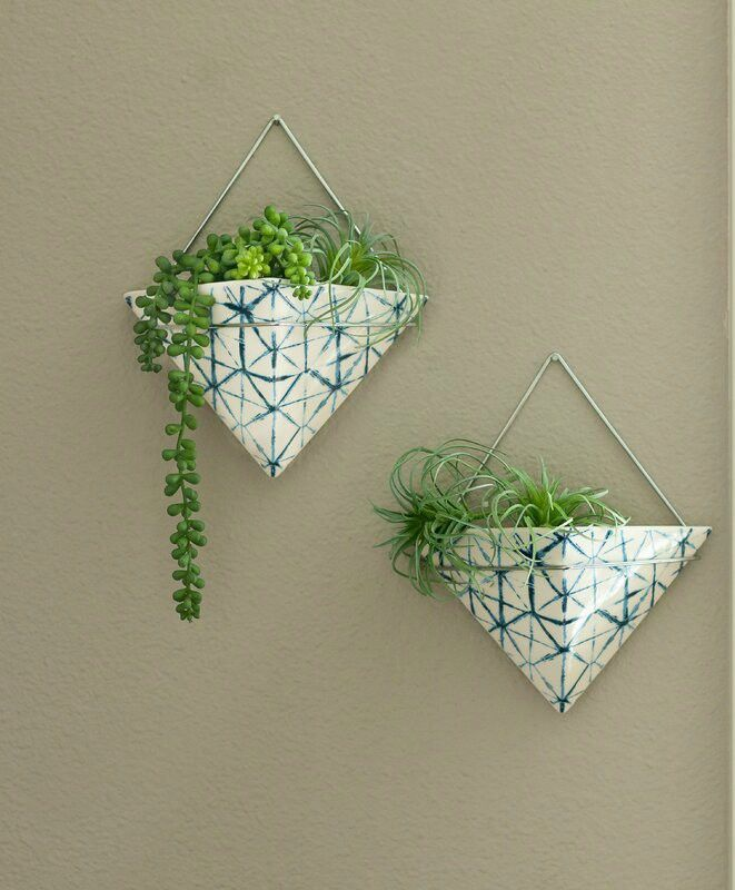 Dain Ceramic Wall Planter - 20 stylish ideas for decorating your small space with plants