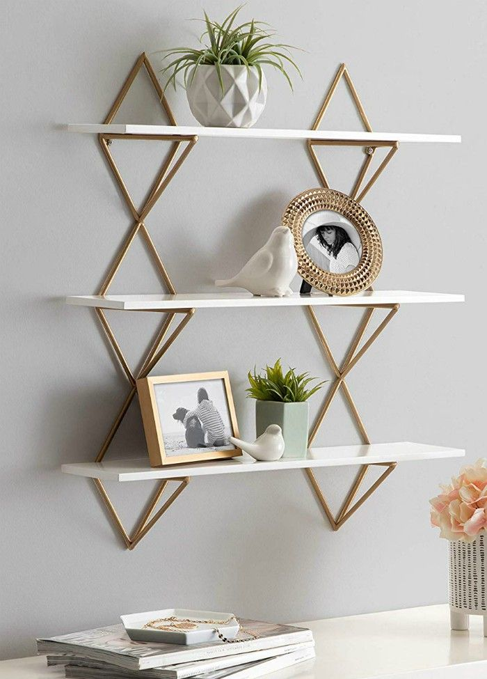 Kate and Laurel Islay Modern Floating Wall Shelves - 20 floating shelves ideas that are sure to freshen up your walls