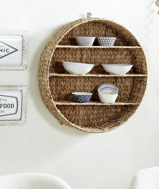 Kellett Round Wall Shelf - 20 floating shelves ideas that are sure to freshen up your walls