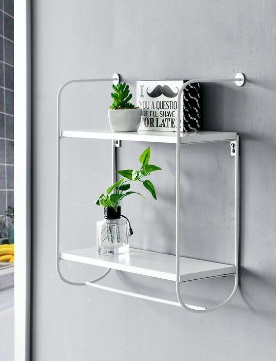 Lanoka2 TierFoldingDisplayWallShelf - 20 floating shelves ideas that are sure to freshen up your walls