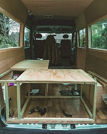 campervan parking wild side 5 - British couple transformed a campervan into a cozy cabin-on-wheels for just 1300 pounds