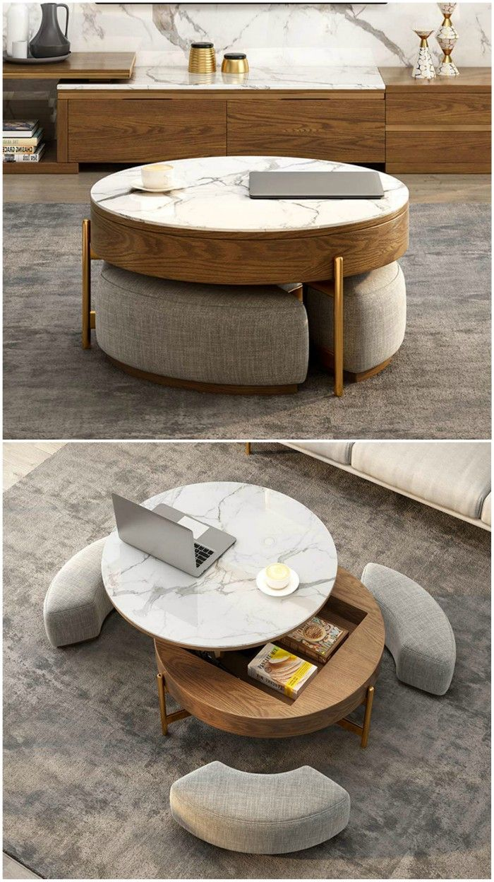 top lift coffee table with ottomans - 18 stunning coffee tables with built-in storage