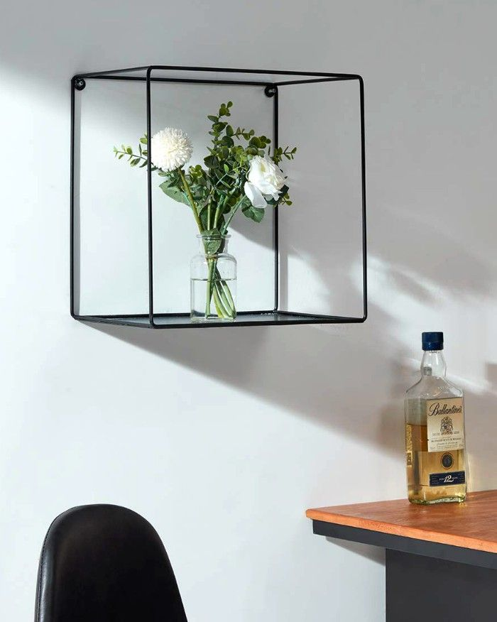 wall mounted metal cube - 20 floating shelves ideas that are sure to freshen up your walls