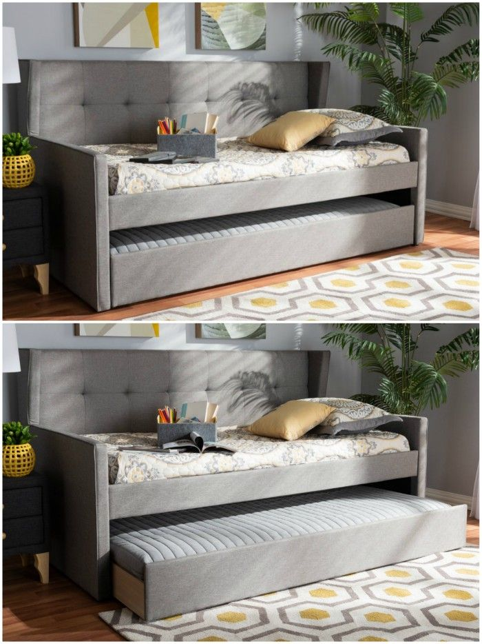 grey daybed trundle - Nine daybeds that are brilliant solutions for small spaces