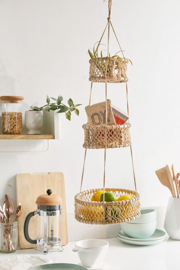 3 tier basket.jfif 1 - 20 clever organizing ideas for taming your kitchen clutter