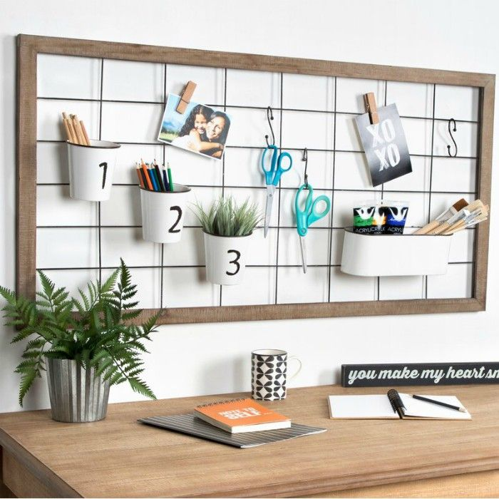 MarcinaWoodFramedOrganizingMetalWallGrid - Add storage to any room with these 20 excellent wall organizers
