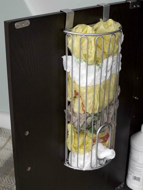 OverTheCabinetDoorBagSaver - 20 clever organizing ideas for taming your kitchen clutter