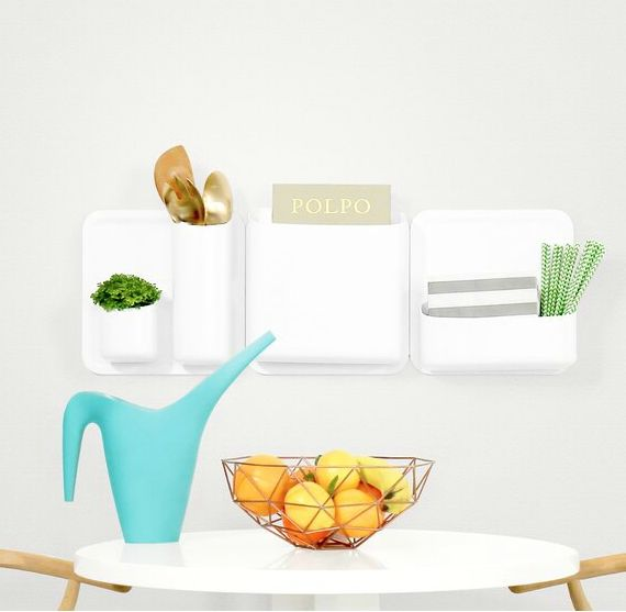 Perch5 PieceStarterWallOrganizer - Add storage to any room with these 20 excellent wall organizers