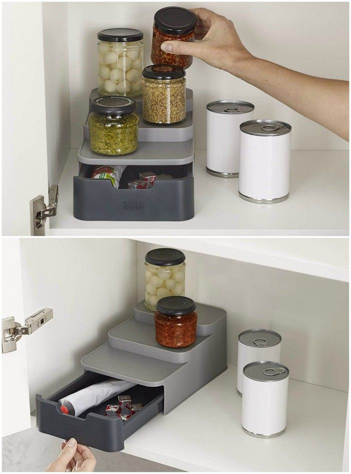 Shelf Organizer - 20 clever organizing ideas for taming your kitchen clutter