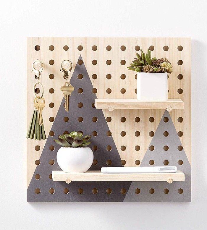 Wooden Pegboard Kit 11 - Add storage to any room with these 20 excellent wall organizers